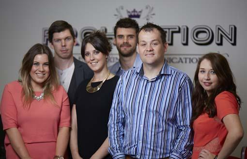 Blog Rebecca Wharmby (L), Will Ockenden, Vicki Murphy, Blog Adam Worrall, Chris Norton, Emily Moult (R)